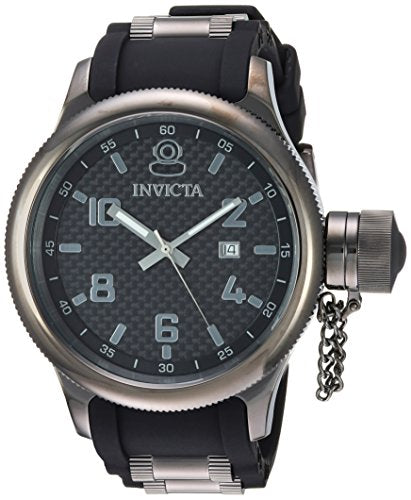 Invicta Men's 'Russian Diver' Quartz Stainless Steel and Polyurethane Casual Watch, Color:Two Tone (Model: 0555)