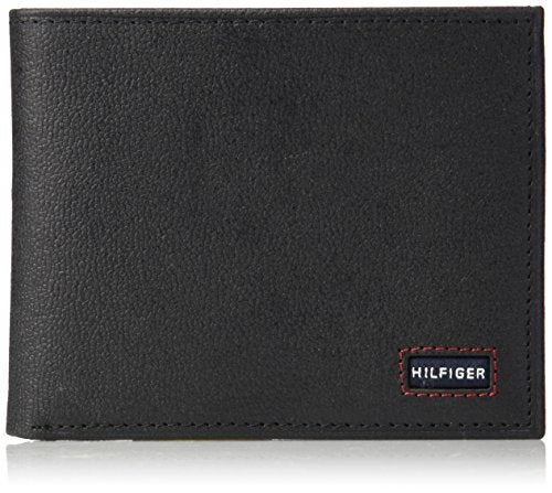 Tommy Hilfiger Men's Wallet with Fixed Passcase, black, One Size