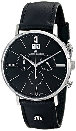 Maurice Lacroix Men's EL1088-SS001-310 Eliros Analog Display Analog Quartz Black Watch