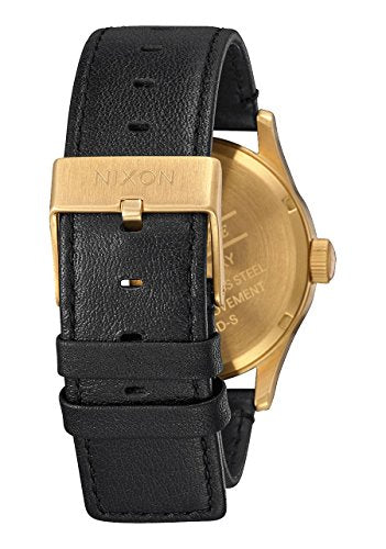Nixon Sentry Leather Watch All Gold Black plus Origami Watch Sleeve