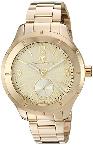 Technomarine Men's 'MoonSun' Quartz Gold-Tone-Stainless-Steel Casual Watch, Color:Gold (Model: TM-117030)