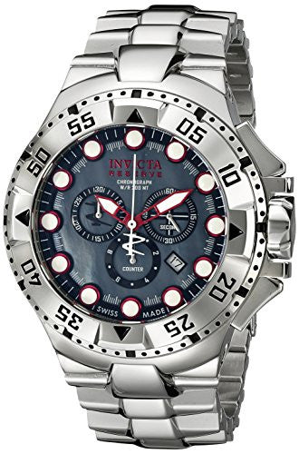 Invicta Men's 13083 Excursion Reserve Chronograph Grey River Pearl Dial Stainless Steel Watch