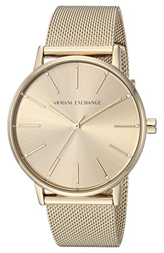 Armani Exchange Women's Dress Gold  Watch AX5536