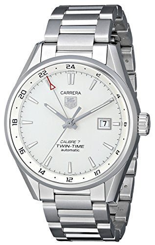 TAG Heuer Men's THWAR2011BA0723 Carrera Analog Display Swiss Automatic Silver Watch