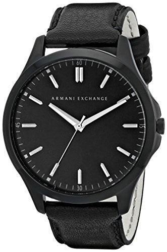 Armani Exchange Men's AX2148  Black  Leather Watch