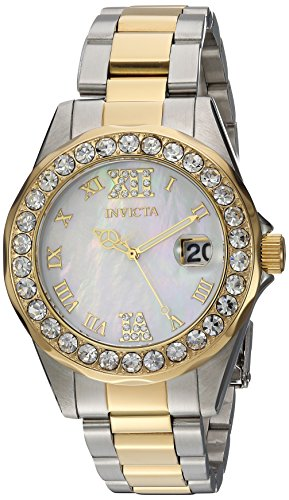 Invicta Women's 'Sea Base' Quartz Stainless Steel Casual Watch, Color:Two Tone (Model: 20391)