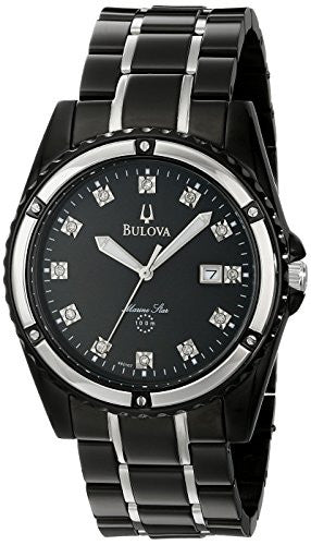 Bulova Men's 98D107 Marine Star Bracelet Mother of Pearl Dial Watch