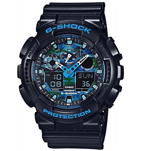 Casio G-Shock Graphic Dial Resin Quartz Men's Watch GA100CB-1A