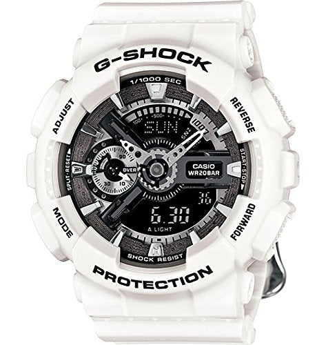 Casio G-Shock S Series Floral White Dial Resin Quartz Ladies Watch GMAS110F-7A