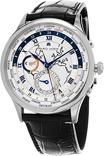 Maurice Lacroix Masterpiece Worldtimer Men's Silver Dial Bla