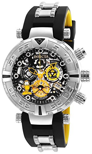 Invicta Men's 'Character Collection' Quartz Stainless Steel and Silicone Casual Watch, Color:Two Tone (Model: 24878)