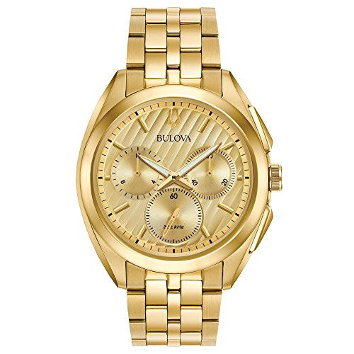 Bulova Men's Curv Collection Goldtone Watch