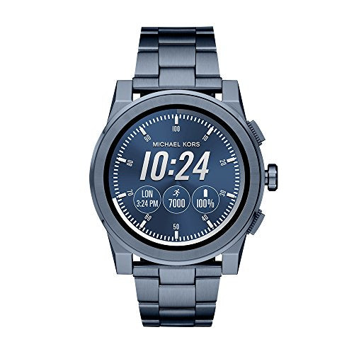 Michael Kors Access, Men's Smartwatch, Grayson Navy-Tone Stainless Steel, MKT5027