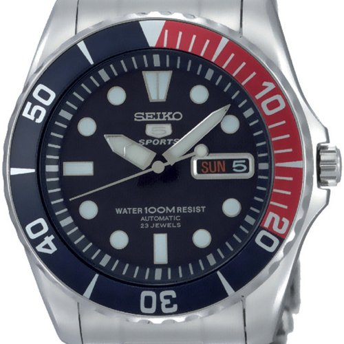 Seiko 5 Blue Dial Stainless Steel Automatic Mens Watch SNZF15