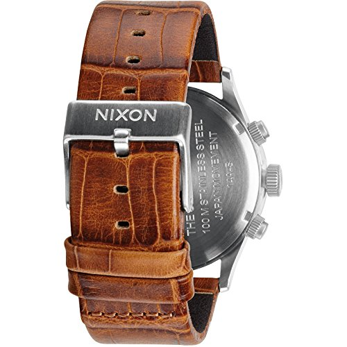 NIXON Men's 'Sentry' Quartz Stainless Steel and Leather Casual Watch, Color:Brown (Model: A405-1888)