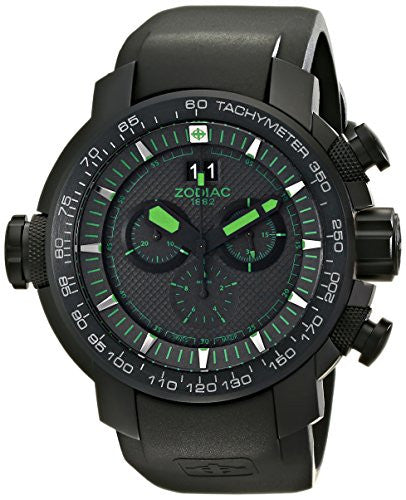 Zodiac ZMX Men's ZO8560 Special Ops Black Stainless Steel Watch with Rubber Band