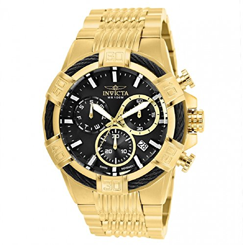 25867 - INVICTA Bolt Men 51mm Stainless Steel Gold Black dial Z60 Quartz