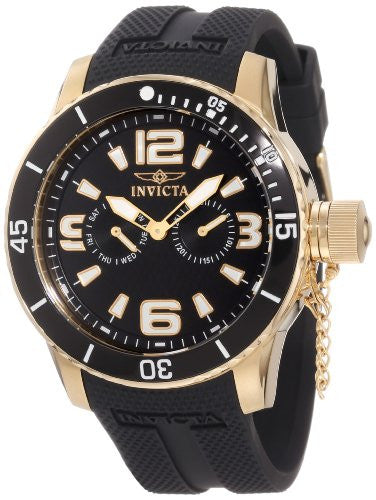 "Invicta Men's 1792 ""Specialty"" 18k Gold Ion-Plated Watch"