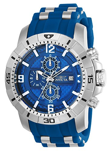 Invicta Men's 'Pro Diver' Quartz Stainless Steel Casual Watch, Color:Blue (Model: 24963)