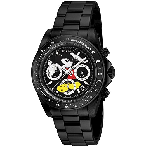 Invicta Men's 'Disney Limited Edition' Quartz Stainless Steel Casual Watch, Color:Black (Model: 25197)