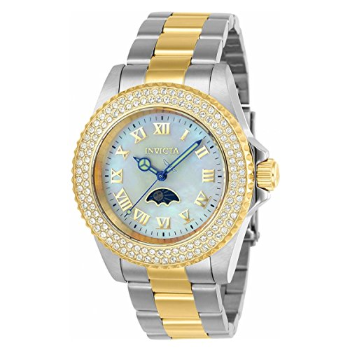 Invicta Women's 'Sea Base' Quartz Stainless Steel Casual Watch, Color:Two Tone (Model: 23831)