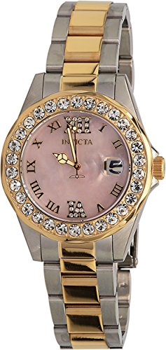 Invicta Women's 'Sea Base' Quartz Stainless Steel Casual Watch, Color:Two Tone (Model: 20392)