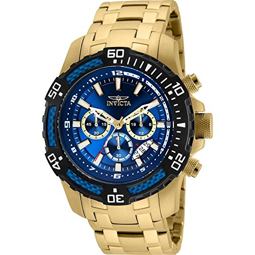 Invicta Pro Diver Blue Dial Mens Chronograph Watch 24856