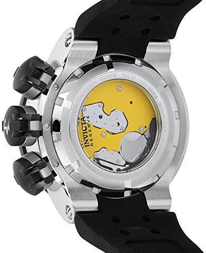 Invicta Men's 'Reserve' Swiss Quartz Stainless Steel and Silicone Casual Watch, Color:Black (Model: 21639)