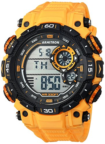 Armitron Sport Men's 40/8397YLW Digital Chronograph Yellow Resin Strap Watch