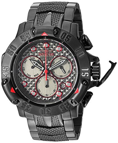 Invicta Men's 'Subaqua' Quartz Stainless Steel Diving Watch, Color:Black (Model: 23809)