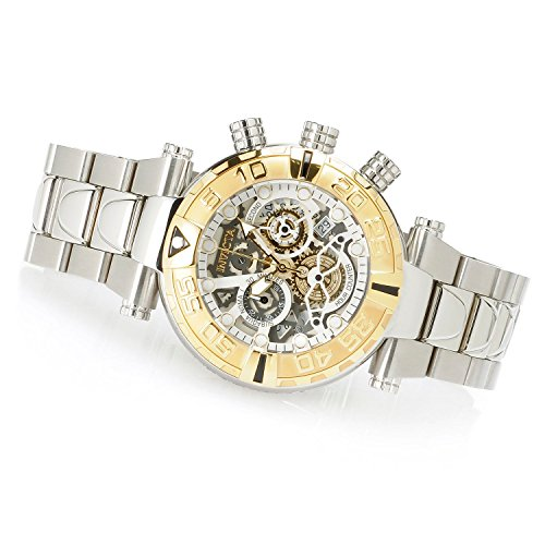 Invicta Men's 'Subaqua' Quartz Stainless Steel Casual Watch, Color:Silver-Toned (Model: 24988)