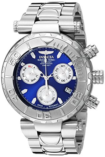 Invicta Men's 'Subaqua' Quartz Stainless Steel Casual Watch, Color:Silver-Toned (Model: 25796)