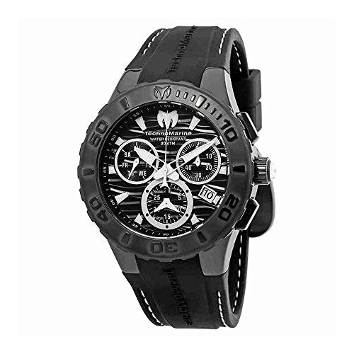 TechnoMarine Cruise Medusa Chronograph Black Dial Mens Watch 115081