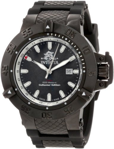 Invicta Men's 0736 Subaqua Noma III Black Dial Black Polyurethane Watch