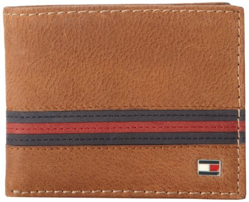 "Tommy Hilfiger Men's Tommy Hilfiger ""yale"" Passcase Billfold,Saddle Tan,One Size"