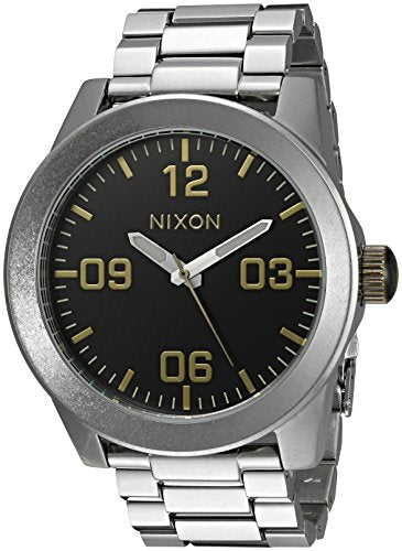 Nixon Men's A3462222-00 Corporal SS Analog Display Japanese Quartz Silver Watch