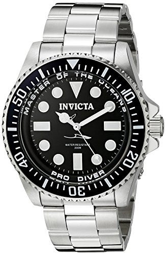 Invicta Men's 20119 Pro Diver Analog Display Swiss Quartz Silver Watch