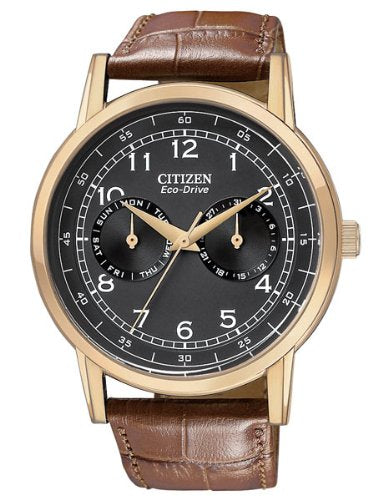 f597794e336 Citizen Men s AO9003-08E Rose Gold-Tone Stainless Steel Eco-Drive Watch with