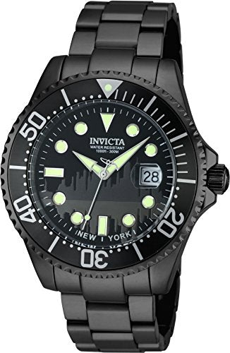 Invicta Men's 'Pro Diver' Quartz Stainless Steel Casual Watch, Color:Black (Model: 90287)
