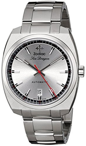 Zodiac Heritage Men's ZO9900 Sea Dragon Analog Display Swiss Automatic Silver Watch