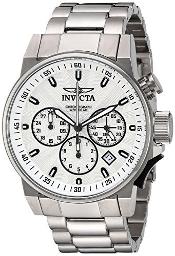 Invicta Men's 'I-Force' Quartz Stainless Steel Casual Watch, Color:Silver-Toned (Model: 23088)