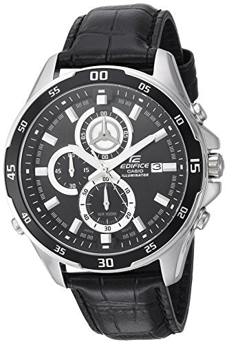 Casio Men's 'Edifice' Quartz Stainless Steel Casual Watch, Color:Black (Model: EFR547L-1AV)
