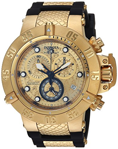 Invicta Men's 'Subaqua' Quartz Stainless Steel and Silicone Casual Watch, Color:Black (Model: 15802)