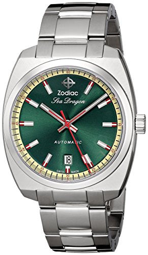 Zodiac Heritage Men's ZO9901 Sea Dragon Stainless Steel Automatic Watch