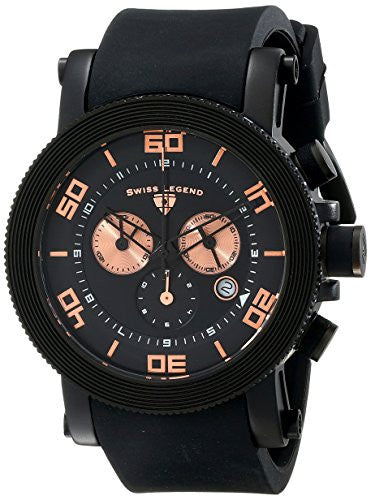 Swiss Legend Men's 30465-BB-01-RA Cyclone Analog Display Swiss Quartz Black Watch