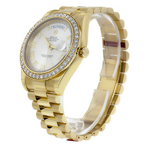 Rolex Day-Date II Yellow Gold Diamond Bezel Watch 218348