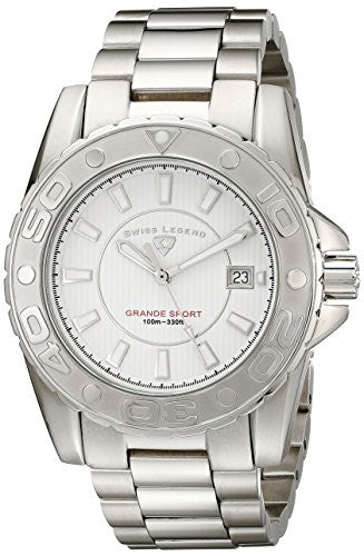 Swiss Legend Men's 9100-22S Grande Sport Stainless Steel Watch
