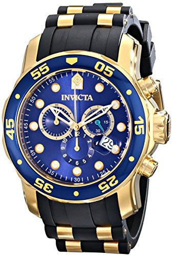 Invicta Men's 17882 Pro Diver 18k Gold Ion-Plated Stainless Steel Watch