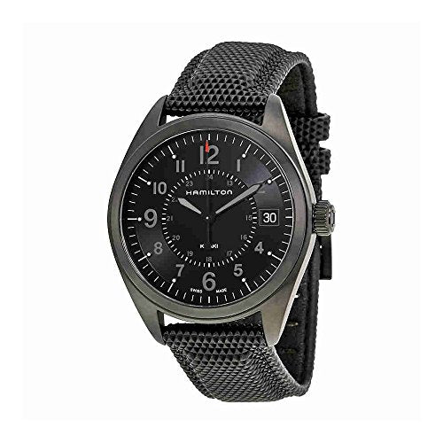 Hamilton Khaki Field Quartz H68401735 Black / Black Rubber Analog Quartz Men's Watch