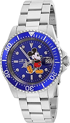 Invicta Men's 'Disney Limited Edition' Automatic Stainless Steel Casual Watch, Color:Silver-Toned (Model: 24758)